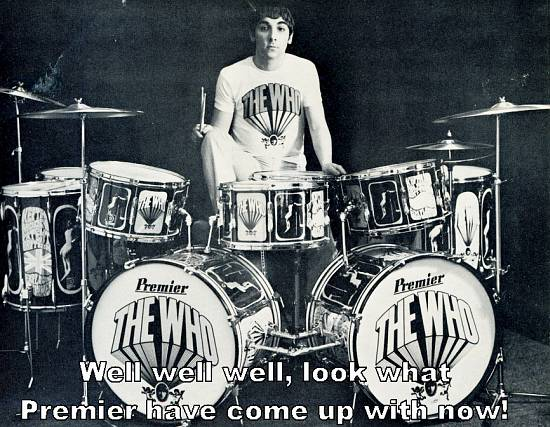 Keith Moon with Premier drums