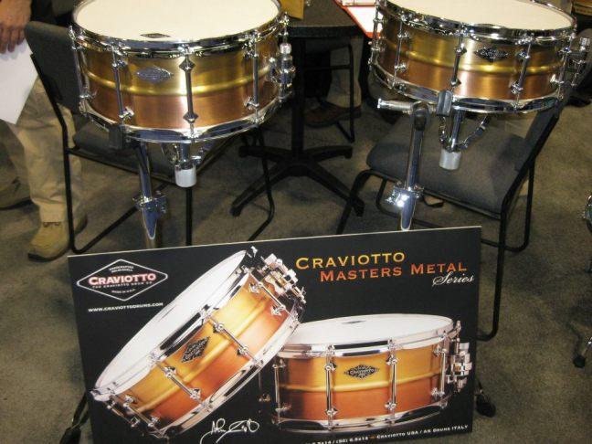 NAMM 2012 Craviotto Masters Metal snare drums
