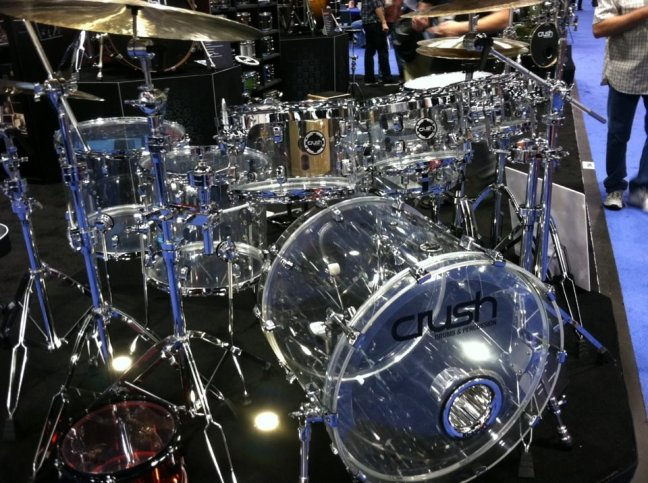 NAMM 2012 Crush acrylic drums with kickport (01)