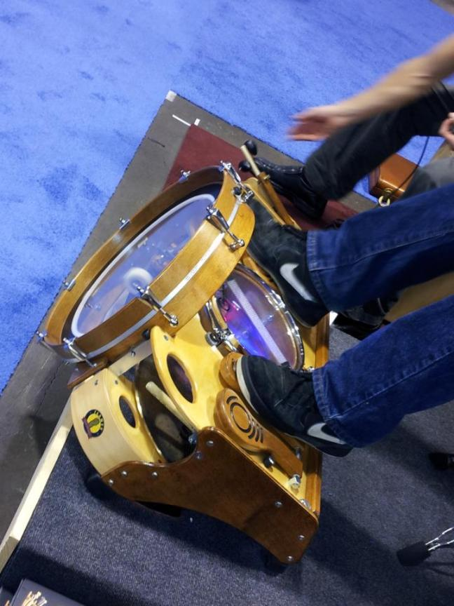 NAMM 2012 Farmer foot drums one man band (02)