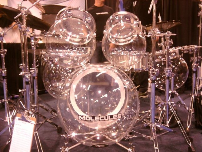 NAMM 2012 Molecules acrylic bubble drum kit (01)