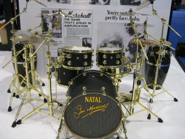 NAMM 2012 Natal drums (Marshall amps drum brand)
