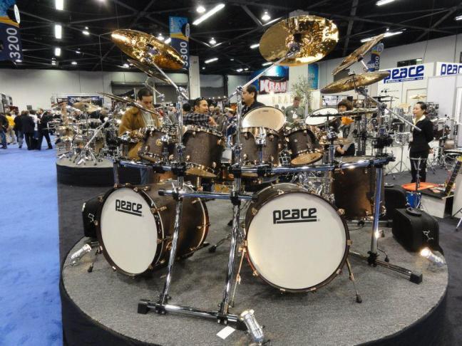 NAMM 2012 Peace drums