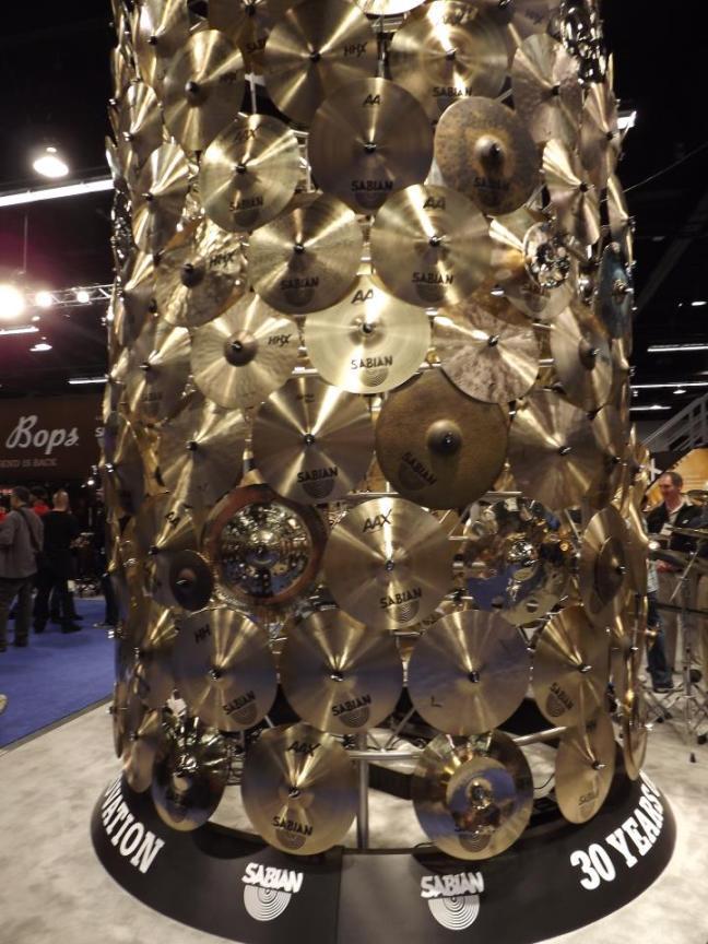 NAMM 2012 Sabian cymbal wall tower