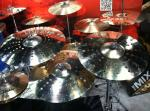 NAMM 2012 Sabian cymbals stadium ride compression hats AAX aero crash prototypes
