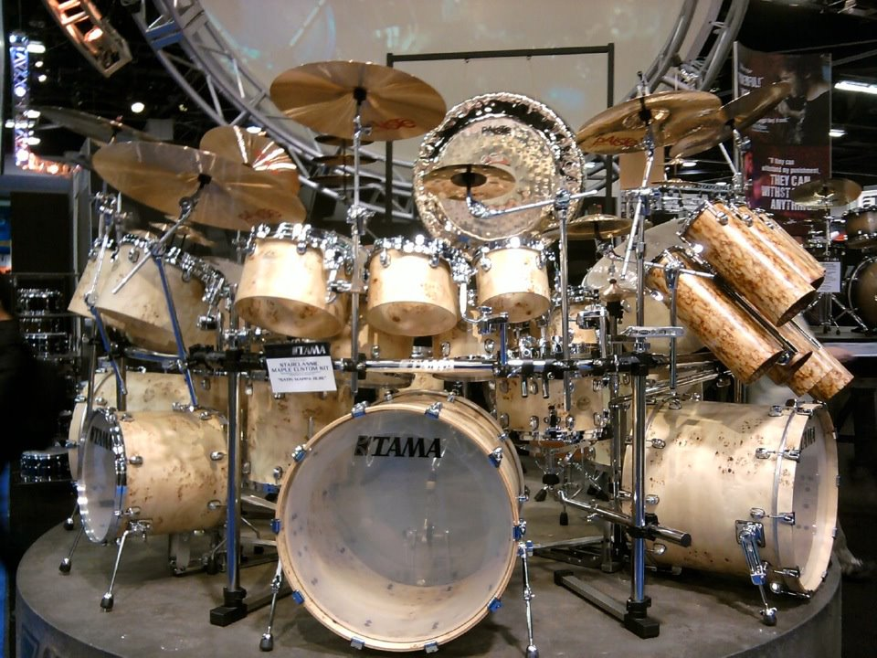 Drumcool Com Namm 2012 Tama Gigantic Exotic Concert Drum Kit With