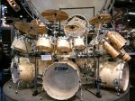 NAMM 2012 TAMA gigantic exotic concert drum kit with Paiste cymbals