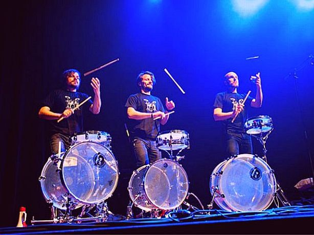 drumcool.com - 2013-02-11 playmobeat drum trio from Germany (stand up comedy)