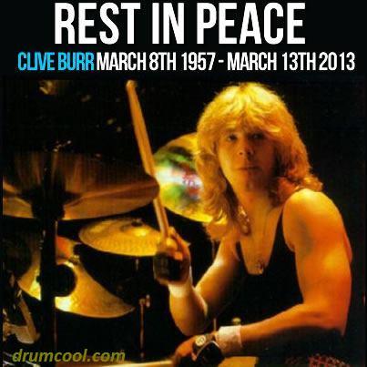 drumcool.com - 2013-03-13 Clive Burr RIP 1957-03-08 2013-03-13